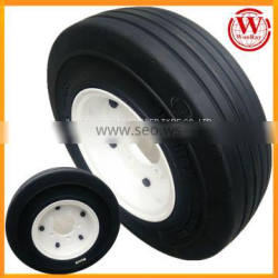 Airport Baggage Trolley 4.00-8 3.75 Solid Rubber Tires