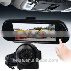 Rear-view Mirror Monitor Camera System for trucks, trucks with trailers safety vision