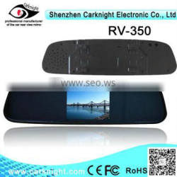 3.5 inch car rearview mirror with car camera can connect to parking sensor