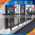 Good! Widly use color painting aluminum tube supplier with outdoor aluminum railing/ painted pattern aluminum balcony railing