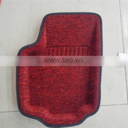 High quality and good designed thick fiber car mat in Red