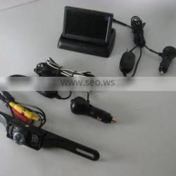 3.5inch dashboard wireless TFT display wireless cigarette charge number plate rear view camera