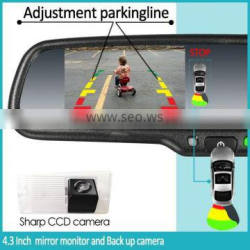 4.3 inch rearview mirror with parking assist rear view camera mirror germid