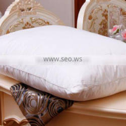 Set of 2 Standard Size Pure Cotton Fabric Feather and Down Pillows