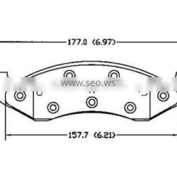 D477 0K553-33-23ZA for Kia disc brake pad
