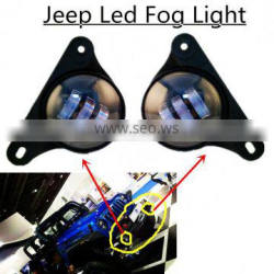 4 Inch 30w Cre-e Led Fog Lights Auto Led Headlight Driving Off road Lamp for Jee-p Wrangler Dodge Chrysler Front Bumper Lights