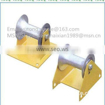 Cable roller with ground plate