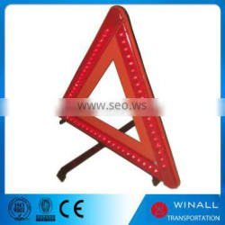 Auto tool set car warning red triangle sign with led flashing light