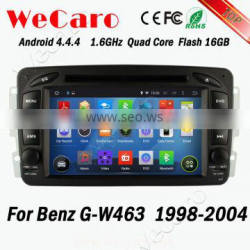 Wecaro WC-MB7507 Android 4.4.4 touch screen for mercedes g w463 car multimedia system 1998 - 2004 bluetooth