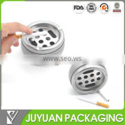 Directly Factory hot sale round metal tin ashtray containers