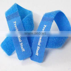 Logo Print electric nylon magic tape Hook and Loop cable tie
