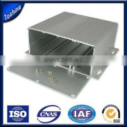 2015 High quality hot selling customized polished 6063 material aluminum shell case box housing extruded profile