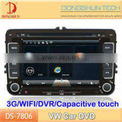 7 inch Capacitive screen VW car DVD GPS with 3G/wifi and DVR