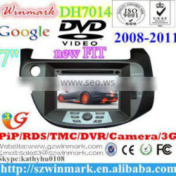 7inch special car dvd player for Honda new Fit with GPS game RDS BT dvbt optional DH7014