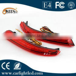 LED Rear Bumper Reflector for rear bumper Tail Brake Stop Light/Driving lamp reflector for car for Bluebird Sylphy