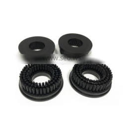 Nylon Pressure Foot Cleaning Brush OD 46mm For PCB Anderson Routing Machine