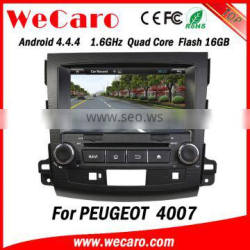 Wecaro OEM in dash 2 din dvd for peugeot 4007 multimedia system