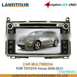 Car multimedia 7Inch Navigation GPS DVD for toyota Venza 2009-2013 CE FCC ROHS