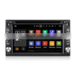 100% Pure Android 5.1.1 Car DVD Player Quad Cord 1.6GHz 6.2 Inch Double Din Touch Screen With Wifi OBD 7 Color light Universal