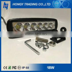 Black Car AUTO Parts 6inch 18w Slim LED Work Light Accessories Auto Tractor Offroad Light Quality Choice