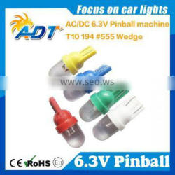 High brightness LED pinball T10 with clear lens