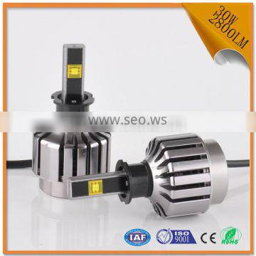 2016 New product 30W 2800LM h3 led light headlamp with white light