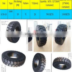 lowest price 6.50-10-10PR TL Forklift solid tyres, china tyre factory