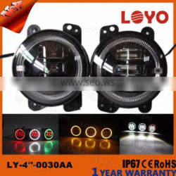 """Colorful 4"""" 30W fog light with angel eyes special for jeep"""
