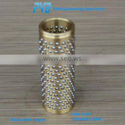 High rigidity anodized Brass Bronze Ball Cage for Die Set,Brass Ball Cages Retainer