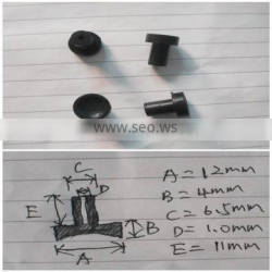 Silicone stopper for 6.5mm diameter hole