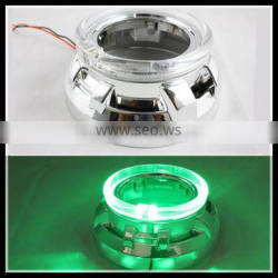 green color 12v 5w waterproof 80mm cre.e led angel eyes head lamp xenon bulb CE-certificate headlight for car led halo rings kit