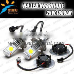 New Product Led H4 1800LM (High Beam 1800LM, Low Beam 1600LM) 50W LED H4 Led Head Light