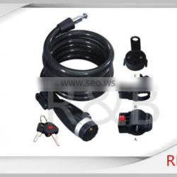 RL-2434 steel spiral cable lock with dust cover