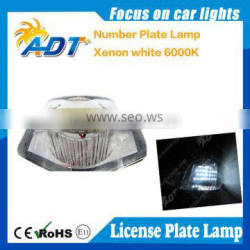 Canbus license plate lamp super white with E4 function for Hon-da