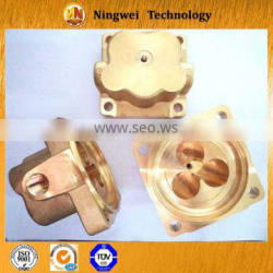 Brass hot forging +machining product with micro seiki center