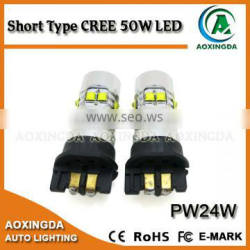 PW24W CREE LED 50W Projector Turn Signal Daytime Running Light DRL