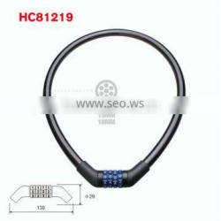 HC81219 cable lock,digit combination lock for bike 650*10