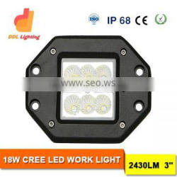DDL led auto off road worklight 18w led work lights portable truck