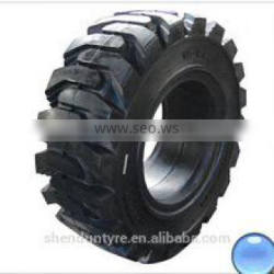 12-16.5 type solid tyre rubber inflatable form forklift solid tire engineering tire giant tires