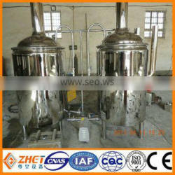 stainless steel micro draft beer brewing machinery heating by gas