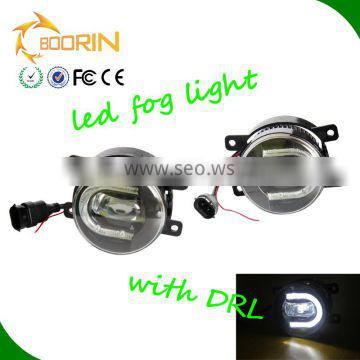 Auto lighting system angel eyes 3.5 inch 1800lm 18w led fog lamps for universal car with DRL auto led fog lights