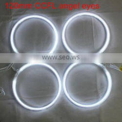 white 120mm ccfl angel eyes lights headlight lamps ccfl ring angel eyes for hyundai/bmw /toyota/ford