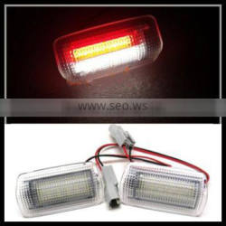 LED Courtesy Door light for LEXUS IS250 ISF RX330 RX350 L S460 LS600 LS430 Xenon White LED welcome courtesy lamps red flash