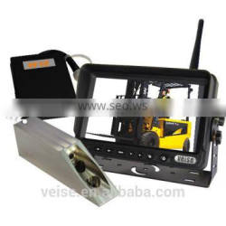 Lift- truck video system with forklift camera moniotr and power bank