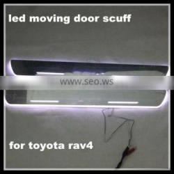 LED light door sill plate scuff for Toyota Camry Corrola RAV4 Red/White/Blue