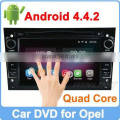 Ownice Quad Core Pure Android 4.4.2 For opel zafira dvd gps HD 1024*600