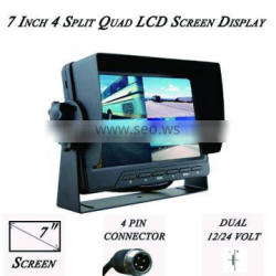 7 Inch Monitor with a Split Screen for up to 4 Backup Cameras CS-S751TMQ