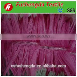2016 changshu city long fur drawn needle process 100%polyester pv fleece tie- dyed fur throw fabric with aroud 30 colors