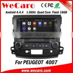 "Wecaro Android 4.4.4 touch screen in dash 8"" car multimedia dvd player gps navigation for peugeot 4007 radio"