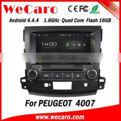 Wecaro Android 4.4.4 cheap price for peugeot 4007 radio gps tv ipod